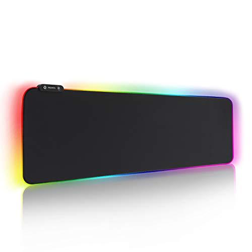 REAWUL RGB Gaming Mauspad Groß - 7 LED...