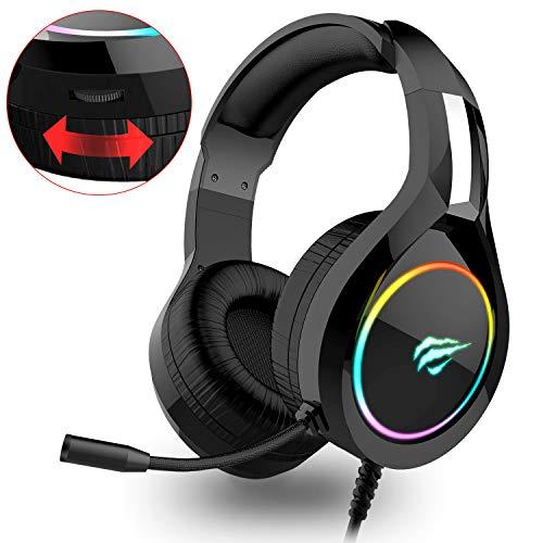 havit Headset für PS4, RGB Gaming Headset...