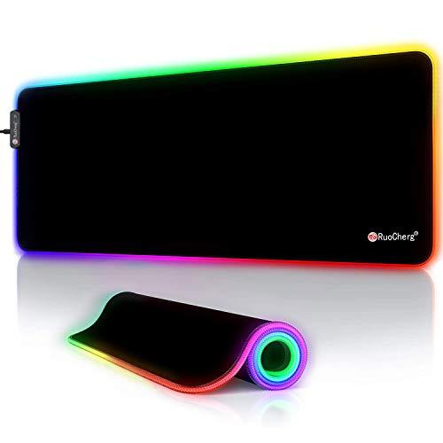 RuoCherg RGB Mauspad, 800 x 300 mm Gaming...