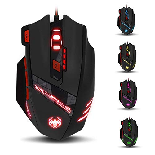 zelotes T90 Gaming Maus 9200 DPI, 8 Tasten,...