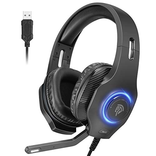 Gaming Headset PC, REDSTORM USB Headset mit...