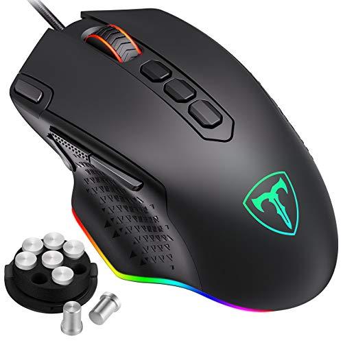 Holife Gaming Maus RGB, Ergonomische PC Maus...