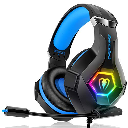 Gaming Headset für PC PS4 Xbox One, 7 Farbe...
