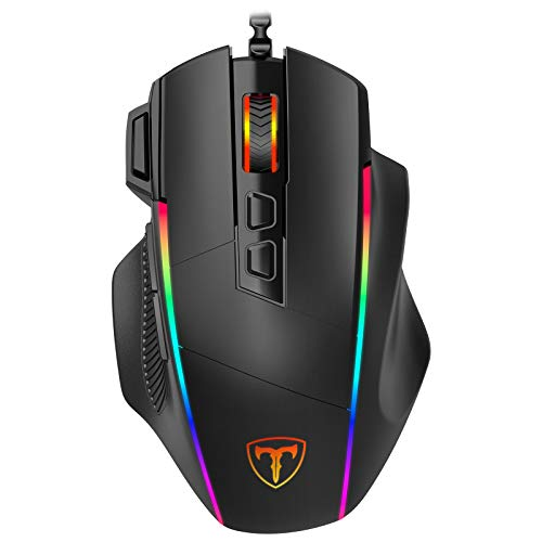 Gaming Maus, Ergonomisch RGB Maus, Holife...