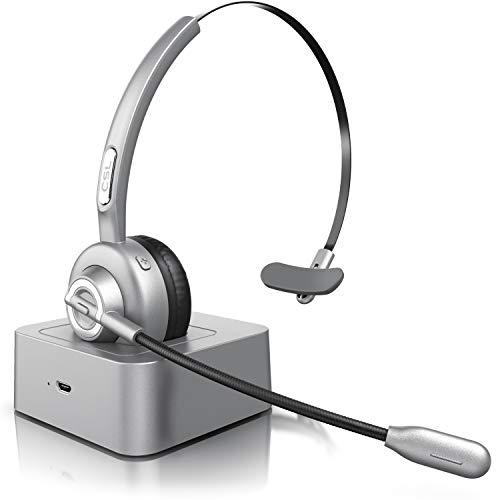 CSL - Bluetooth Headset mit Ladestation -...