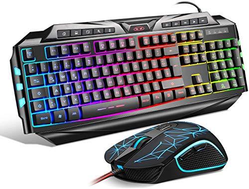 {DE Layout} Gaming Tastatur Maus Set GK710...