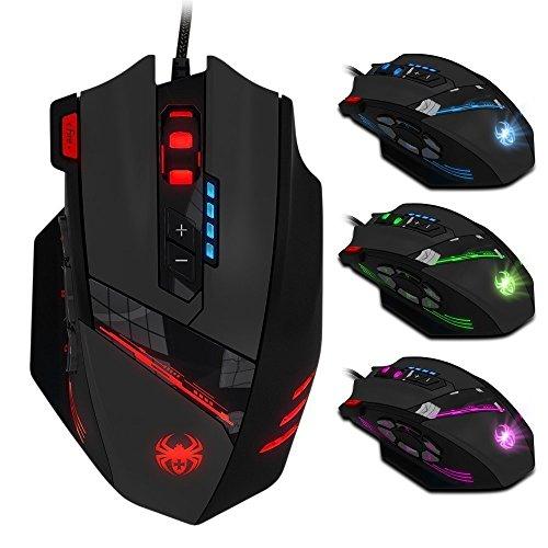 Zelotes Gaming Maus,12 programmierbare Tasten...